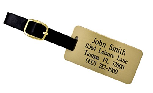 Custom Luggage Tag - Custom Engraved Brass Luggage Tag - Personalized Luggage Tag - Perfect Gift for Boss - Professional Gift for Coworker - ONE Custom Luggage Tag