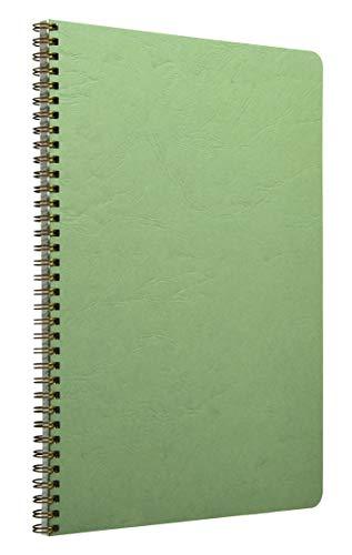 Clairefontaine 781423C Agebag Spiralbuch (DIN A4, 21 x 29,7 cm, 50 Blatt, kariert, Doppelspiralbindung, praktisch für unterwegs, robust und belastbar) 1 Stück grün