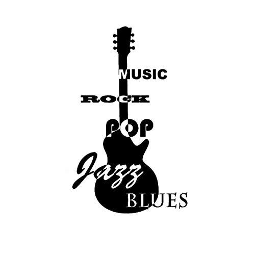 Wangchengp 9.2CM*15.2CM Fashion Jazz Blues Rock Gitaar Vinly Auto Sticker (5PS)