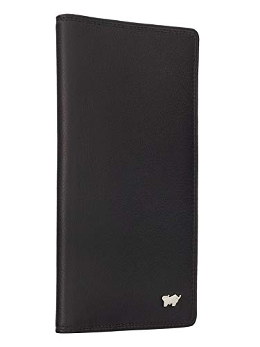 BRAUN BÜFFEL Brieftasche Golf 2.0 - aus echtem Leder - 14 Fächer Schwarz