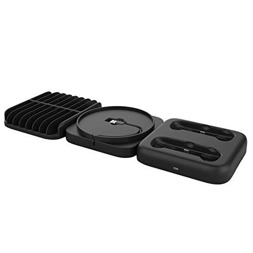 Sonline Base de Carga Multifuncional, Base de Consola Tres en para + Base de Carga con Asa + Estante de Almacenamiento de Disco de Juego para Series X