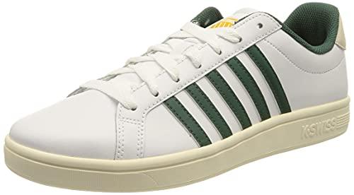 K-Swiss Herren Court TIEBREAK Sneaker, White/POSYGREEN/AW, 46 EU