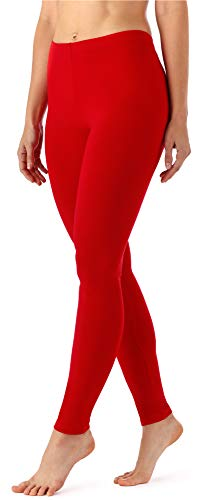 Merry Style Damen Lange Leggings aus Viskose MS10-143 (Rot, M)
