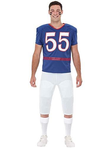 Funidelia | Football Kostüm Quarterback für Herren Größe XL ▶ Rugby, Quarterback, American Football, Berufe - Blau
