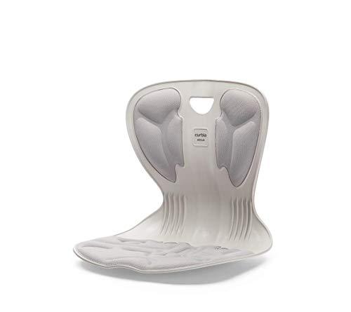 【Monna】骨盤サポート 新カーブルチェア 在宅 ワーク 椅子 姿勢 ボディメイク 美 Style 携帯 便利 正規代理店 (アイボリーグレー)