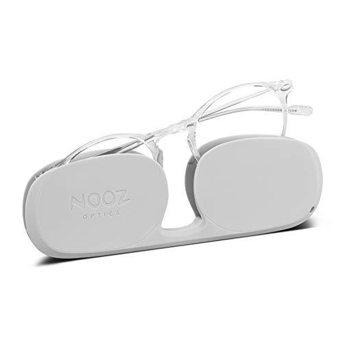 Nooz Optics - Blaulichtfilter brille ohne sehstärke Damen und Herren für Bildschirm, Smartphone, Gaming oder Fernsehen - Runde Form - Kristall Farbe - Cruz Collection