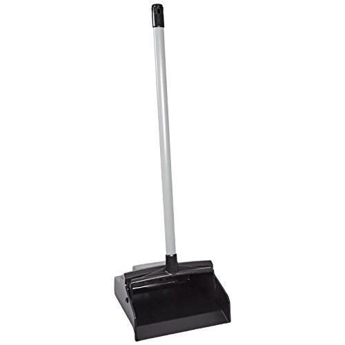 Impact 2600 LobbyMaster Plastic Dust Pan, 12w x 37h, Black Pan/White Handle