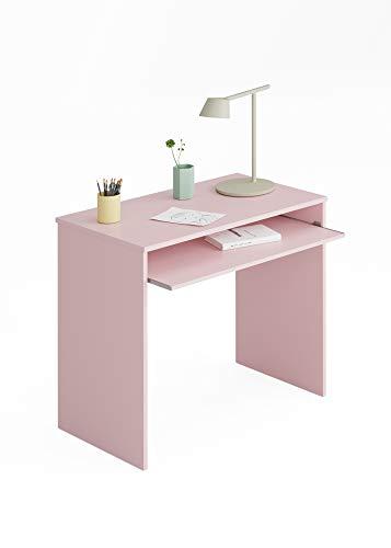 Esidra Schreibtisch PC-Laminat Rosa-cm. 79 x 90 x 54, Unico