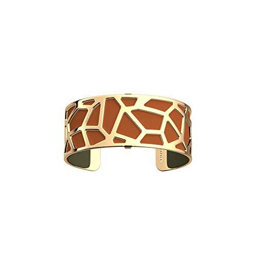 Les Georgettes - Bundle - Armreif Gold 25mm Girafe inkl. Ledereinsatz Khaki/Cognac