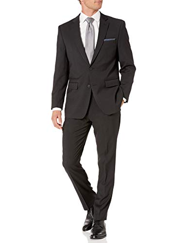 Van Heusen Men's Modern Slim Fit Flex Stretch Suit, Black, 38 Regular