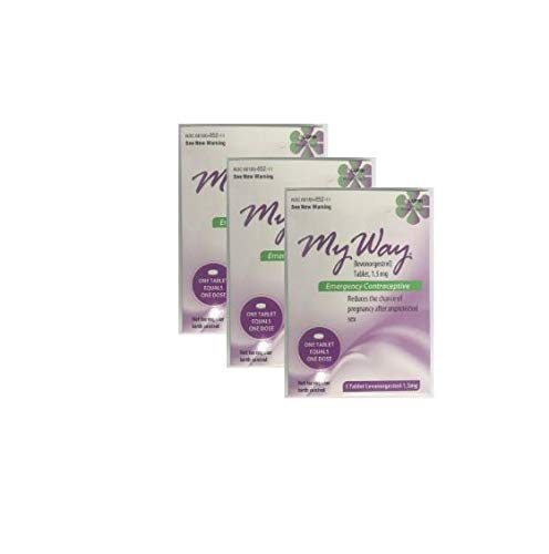 My Way Emergency Contraceptive 1 Tablet *Compare to Plan B One-Step* Set of 3 Pills