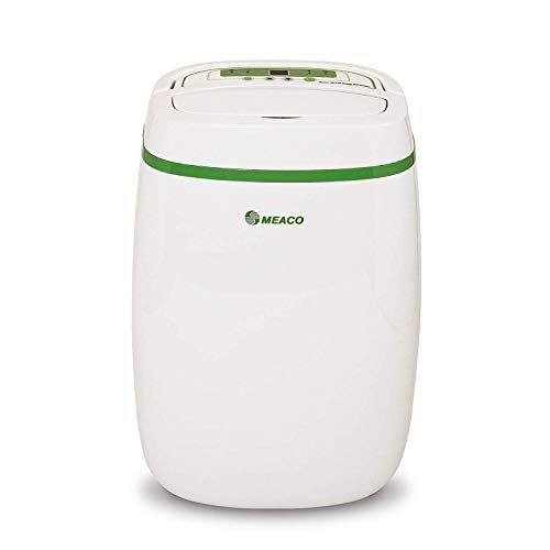 Meaco 12L Low Energy Dehumidifier With Air Purifier and Hepa Filter For Damp Condensation and Mould Removal Exclusive 3 Year Warranty, Rapid Control Of Humidity Indoor Laundry Drying