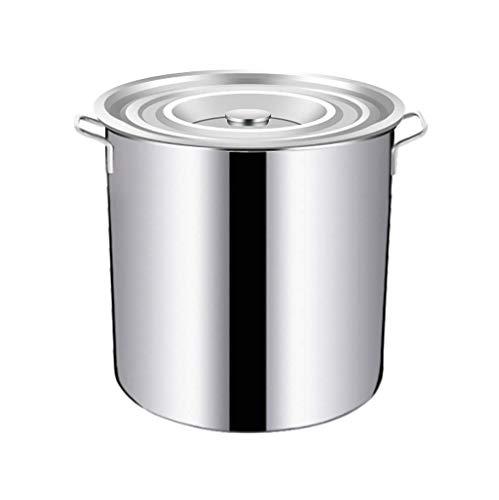 WY-YAN 24CM/10L Deep Induction Casserole with lid, Large Stock Pot - Suitable for Various Heat Sources