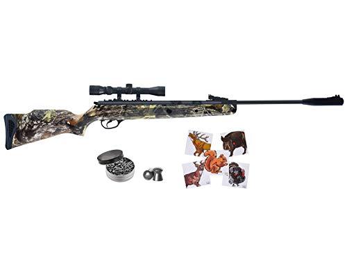 Wearable4U Hatsan Mod 125 Spring Camo Combo .22 Cal Air Rifle 100x Paper Targets and 250x .22cal Pellets Bundle