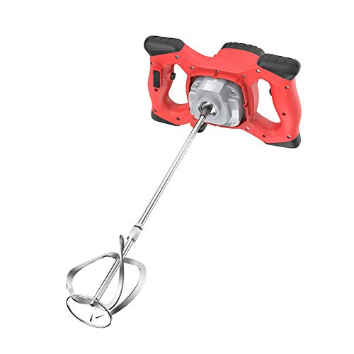 Cement Mixer Electric Concrete Cement Plaster Handheld Drill Mixer Stirring Tool 2100w Electric Mortar Mixer Red Handheld Concrete Cement
