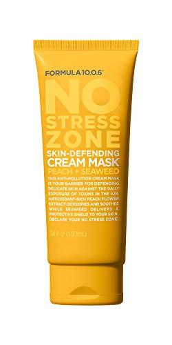 No Stress Zone Skin Defending Cream Mask (3.4 Fl. Oz.) Cream Mask that Defends Against Toxins & Rejuvenates - - Vegan, Paraben-Free, Sulfate-Free, Cruelty-Free