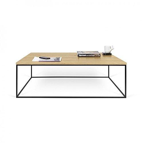 Paris Prix - Temahome - Table Basse Gleam 120cm Chêne & Métal Noir