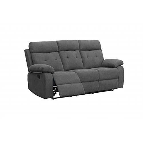 SHIITO - Sofá de 3 Plazas Kito HD8007 el cual Cuenta con 2 plazas Sistema Relax Manual