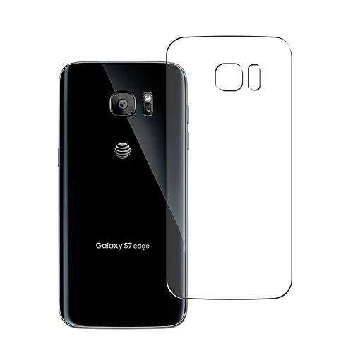 Vaxson 2 Unidades Protector de pantalla Posterior, compatible con Samsung Galaxy S7 Edge SCV33 SC-02H [No Vidrio Templado] TPU Película Protectora Espalda Skin Cover