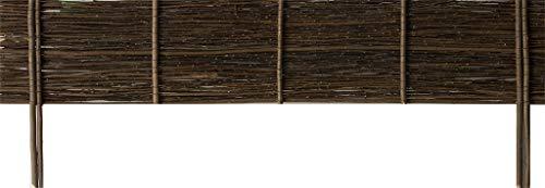 Windhager Beeteinfassung WEIDE Typ 1 gerade, Beetumrandung, Weidezaun, Gartenzaun, Rasenkante, Palisade, Begrenzung für Blumen- und Gemüsebeete, 100 x 20 / 35 cm, natur, 06485