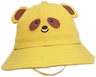 byaby Kids Bucket Hat Toddler Bucket Hats for Summer UV Sun Protection Yellow, Small