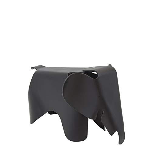 Vaukura Taburete Elephant - Taburete Infantil Inspiración Eames Elephant (Negro)