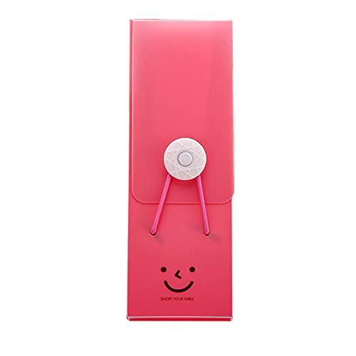 WUYUANKEI Caja de lápiz de Color de Caramelo de plástico, Caja de lápiz, Caja de lápiz Multifuncional Red