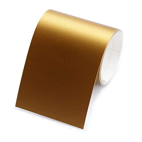 1 Rolle Bordüre, selbstklebend, 4cm breit & 5m lang, für die Wand in Wohnzimmer & Schlafzimmer (gold)