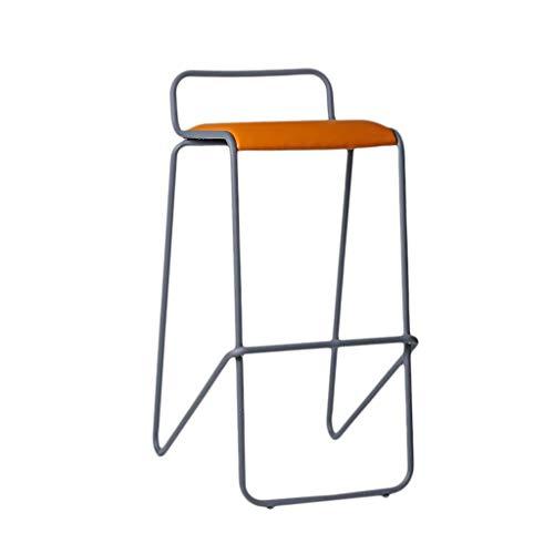 Qjifangyizi hoge kruk, metaal creatief gewatteerde rugleuningstoel ontbijt bar tafel schrijftafel keukenstoelen