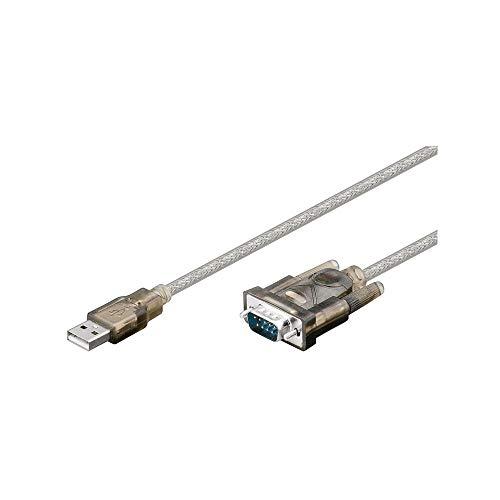 M-Cab USB A/D-Sub - Cable de Serie (Gris, USB A, D-Sub, Mach