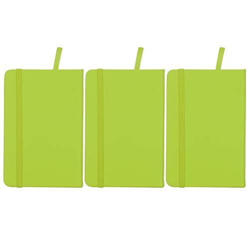 Bloc de notas de tapa dura, cuaderno, esquinas redondeadas Protección ocular Respetuoso con el medio ambiente Sin agente fluorescente para escribir diarios(green)