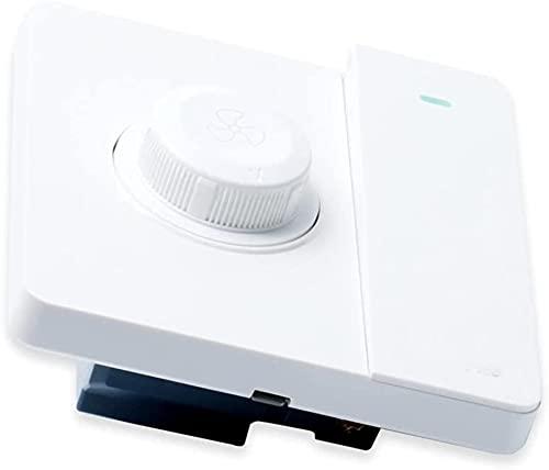 LODCC Regulador de Ventilador de Techo de 220 V Tipo 86 Panel de Interruptor regulador de Velocidad de instalación Oculta Cambio de Velocidad Continuo con Interruptor de luz Sencillo
