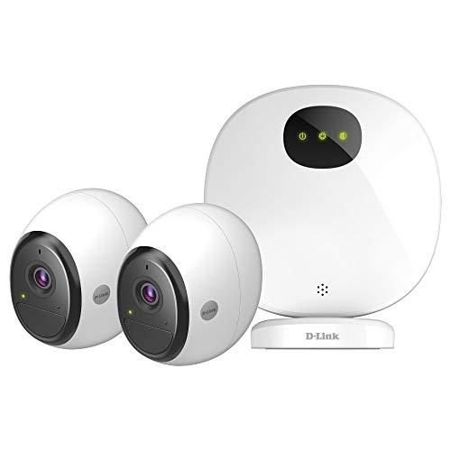 D-Link DCS-2802KT-EU mydlink Pro 2er Set WiFi Full HD Überwachungskameras (Alexa, Google & IFTTT kompatibel, 140 Grad Blickwinkel, Nachtsicht, Wetterfest, inklusive Premium Abo für Cloud Aufzeichnung)