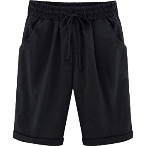 Pantalones Cortos Deportivos con Cintura elástica para Mujer, Pantalones Cortos Informales básicos, cómodos...