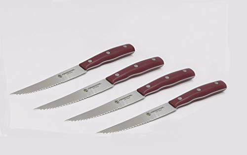 HISTORY - Forged in Fire - Stainless Steel Knives (4 Piece Stainless Steel Steak Knives)
