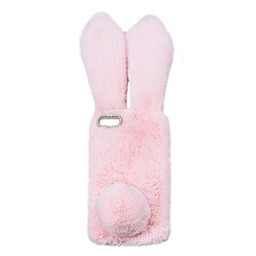 Mikikit Cute Conejo Plush Case Mullido para Apple iPhone 6 Plus/6S Plus,...