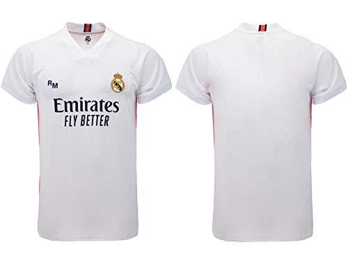 Ufficiale Camiseta de fútbol RM 2020/2021 – Blanca – Tallas de niño y adulto, blanco, 4