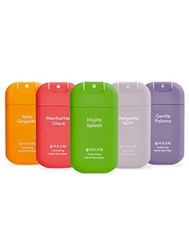 HAAN Desinfectante de Manos Hidratante en Spray | Pack 5 mix unidades | Dispensador RELLENABLE | Higienizante con Dispensador | Antiséptico | 30 ml | 5 Fragancias