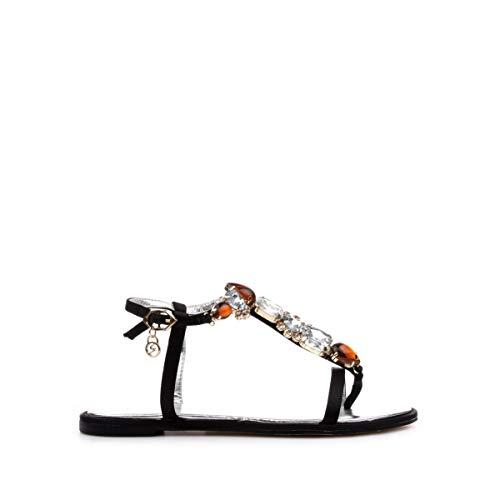 Gattinoni - Sandalias para mujer con aplicaciones, color negro Negro Size: numeric_36