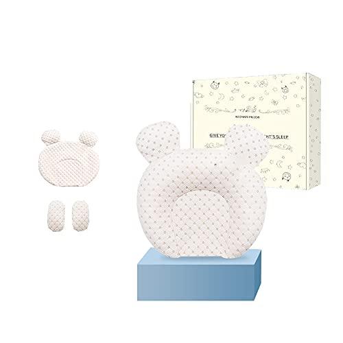 Ycsax Almohada para Modelar La Cabeza del Bebé, Reposacabezas Suave Y Transpirable para Bebés Recién Nacidos, para Dar Forma a La Cabeza, Almohada Ergonómica De Látex Natural para Niños Pequeños,E
