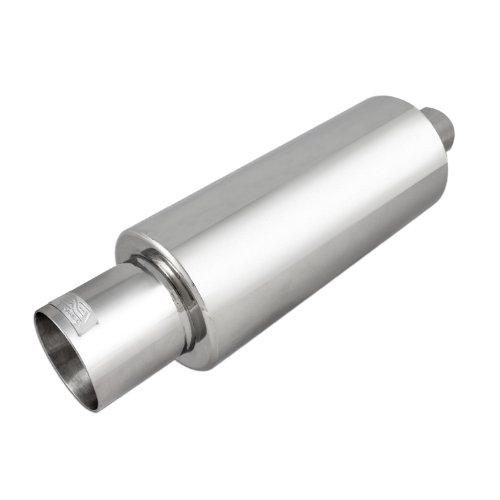 DC Sport EX-5015 Stainless Steel Round Muffler and Slant Cut Exhaust Tip