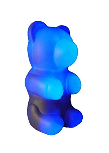 ORGON LED Leuchte Nikki Bär 12 Volt blau Höhe 31cm, Kunststoff, Weiß