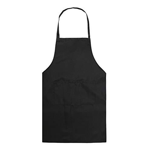 zhppac Mandil Cocina Mujer Delantales Delantales para Las Mujeres Delantal de Mujer Delantal de Las Mujeres Hombre Delantales Las Mujeres Delantal Black
