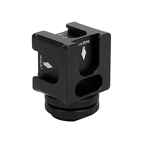 CUTULAMO Adattatore per Montaggio su Slitta, Giunto cardanico in Lega di Alluminio per Microfono a Luce LED per Fotocamere SLR Micro-Singole