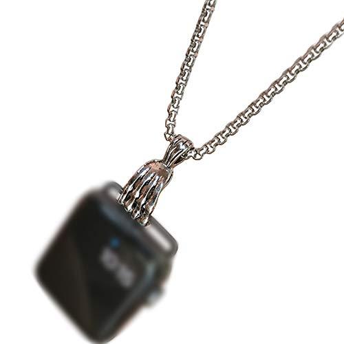 MOCOHANA 腕時計ネックレスチェーン 27.55インチ 腕時計ランヤードクラスプ スポーツウォッチ ネックレス ストラップ ネックレス ペンダント ウォッチコネクター アダプター ステンレススチールボックス (42mm 爪)