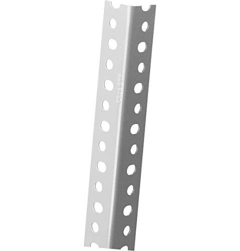 SSI Schäfer FIX-Profil 1, Hochwertigem Stahl (ST 50), Sendzimierverzinkt, L 1920 mm, B 36 x H 36 x T 1,8 mm