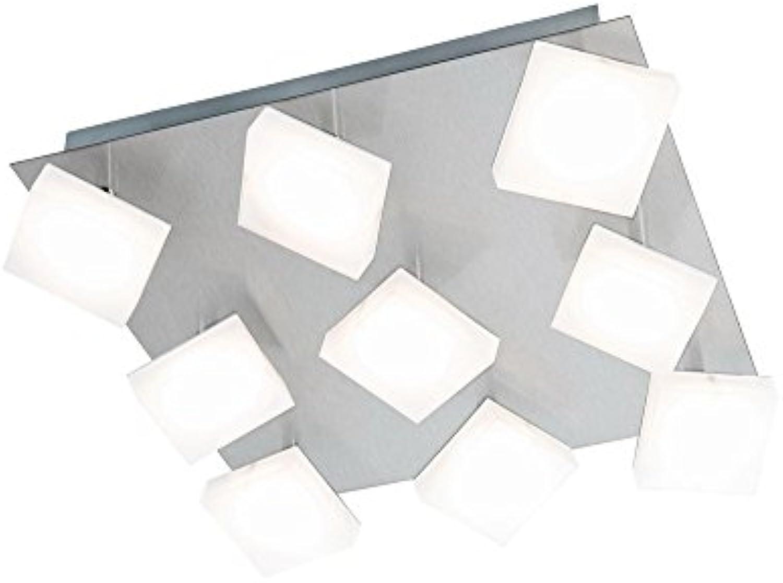 Nino-Leuchten LED-Deckenleuchte Denise 36X36 CM, 9-FLG