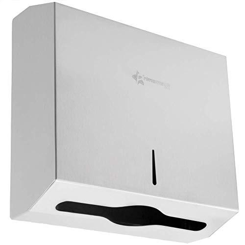 PrimeMatik - Dispensador de Toallas de Papel para baño en Acero Inoxidable