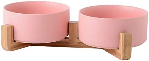 Yonger 1Pcs Courier shipping free shipping Double Ceramic Raised Cat Elevated Bowl 5 ☆ very popular P Dog Bowls