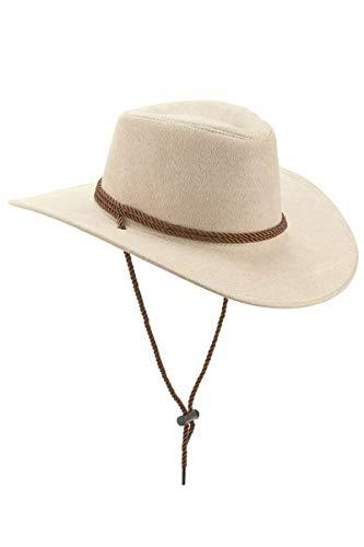 DEGUISE TOI - Chapeau Cowboy Beige en Suede Adulte - Taille Unique